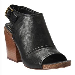 Isola Isanti Leather open toe bootie. New. Size 10